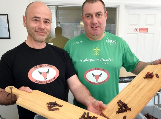 Biltong_Company.  Craig Edwards, left, and Paul Elliott